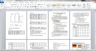 Bài tập lớn công nghệ may - Học phần chuẩn bị sản xuất