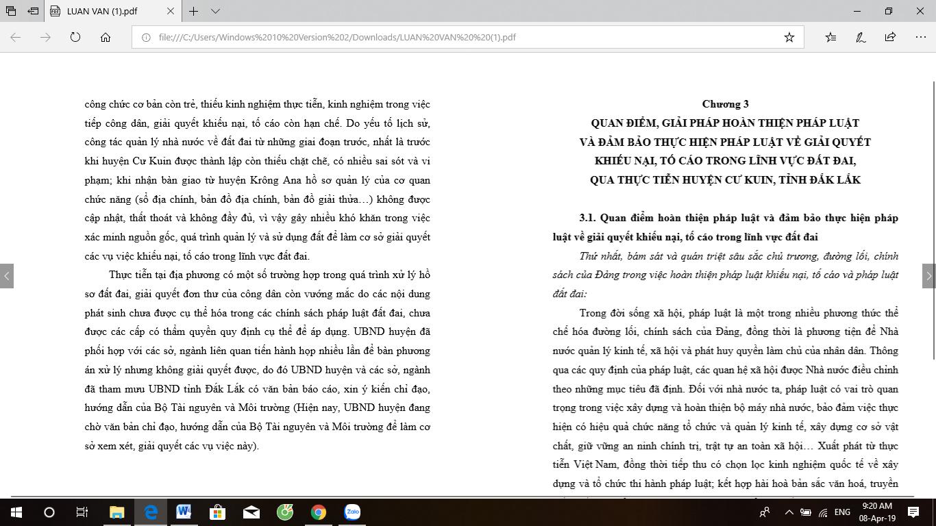Luận văn thạc sĩ: Pháp luật về giải quyết khiếu nại, tố cáo trong lĩnh vực đất đai - Từ thực tiễn huyện Cư Kuin, tỉnh Đắk Lắk